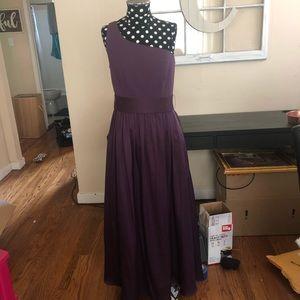 Vera Wang One Shoulder Bridesmaid Dress Size 6